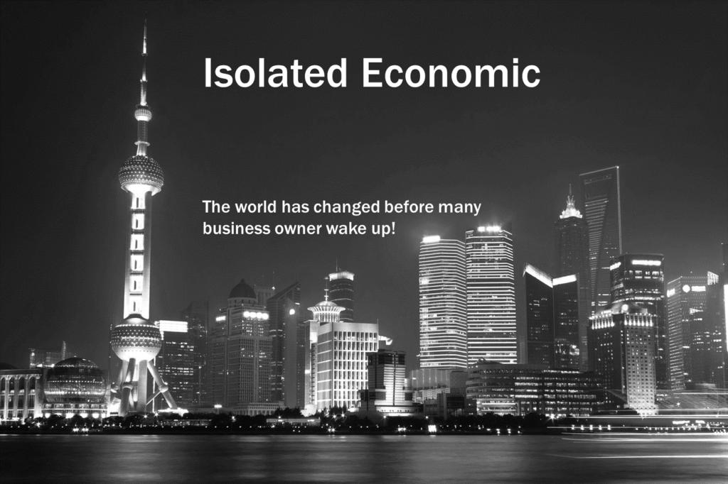 Isolated Economic Banner